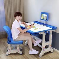 Bàn ghế học sinh thông minh tùy chỉnh kích thước cao thấp, tùy chỉnh góc độ mặt bàn, bàn có ngăn kéo chỗ để ipad tiện cho việc học online