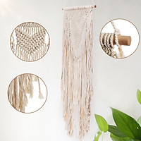 BOHO Style Macrame Woven Macrame Knitted Rope Woven Tassel Wall Hanging Handmade Tapestry Bohemian Hand Wash / Cold Water / Hang Dry