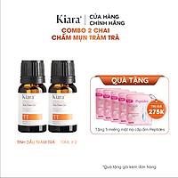 Combo 2 Chai Chấm Mụn Tràm Trà Kiara Tea Tree Oil 2x10ml