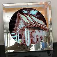 Đồng hồ thủy tinh vuông 20x20 in hình Temple - đền thờ (38) . Đồng hồ thủy tinh để bàn trang trí đẹp chủ đề tôn giáo