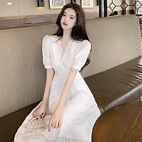Váy trắng nữ hàng Quảng Châu cao cấp mẫu mới nhất V151 (KÈM ẢNH THẬT)