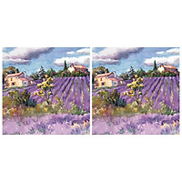 Combo 2 Khăn Giấy Ăn Trang Trí Bàn Tiệc Tissue Napkins Design Ti-Flair 344623 (33 x 33 cm)