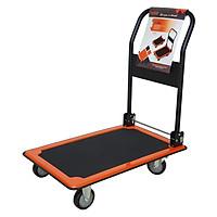 Xe đẩy hàng 4 bánh màu cam đen TP-XDT003 - tải trọng 150kg