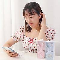 Tai nghe nhét tai siêu đẹp kèm hộp đựng tại nghe chống rối siêu sinh - đem lại âm thanh sống động hơn bao  giờ hết (Giao hàng theo mẫu ngẫu nhiên)