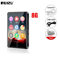 Ruizu M7 Metal MP3 Players Bluetooth-compatible 5.0 Audio Player Built-in Speaker Lossless Music Player 2.8 Inch Large Touch Screen Walkman With E-book Pedometer Recording Radio Video Support TF Card