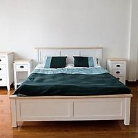 Giường Ngủ gỗ thông cao cấp - Thiết kế hiện đại, phù hợp với mọi không gian phòng ngủ - Hàng bền, đẹp, chất lượng