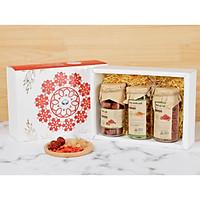 Hộp quà tặng trà hoa cao cấp - Set 12: Trà táo đỏ, Kỷ tử, Long nhãn