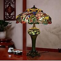 Đèn bàn trang trí Tiffany chuồn chuồn hoa sen chao 49