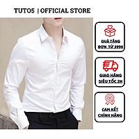 Áo Sơ Mi Nam Tay Dài  Trơn Công Sở Phom Slimfit  Vải Cotton 100% Cao Cấp Mềm Mịn, Thoáng Mát  TUTO5 ASM1001