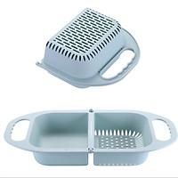 Rổ gác bồn rửa bát thông minh gấp gọn, gài bồn rửa chén siêu tiện dụng ( màu ngẩu nhiên)
