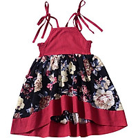 Princess Dress For Girl Sleeveless Baby Clothes Travel Dresses Bohemian Baby Dress Summer Kids Girl Dresses