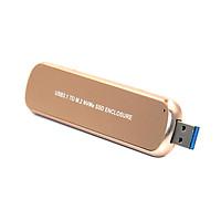 Vỏ ổ cứng di động USB3.1 đến M.2 NVMe bằng hợp kim nhôm