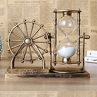 Đồng hồ cát bánh xe Ferris phong cách cổ điển, sang trọng - vật dụng trang trí bàn làm việc