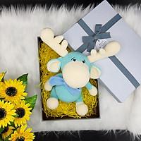 Gấu bông móc len Amigurumi cao cấp Amiu Việt Nam - Tuần lộc Bé Bự, quà tặng đồ chơi nhồi bông cho bé