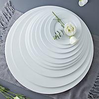 Đĩa bằng 18 inch dáng tròn sứ Long Phương dành cho nhà hàng, khách sạn