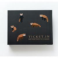 Album ảnh Ticket lưu giữ vé và ảnh 9x9,5cm họa tiết gấu Koala
