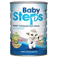 Sữa Dê Công thức Baby Steps Goat Toddler Milk Drink số 3 900gr