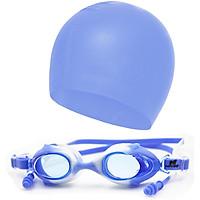 Combo mũ bơi - kính bơi kèm nút bịt tai