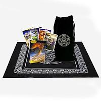 Combo Bộ Bài Bói Tarot Whispers of Love Oracle Cards New Cao Cấp  và Túi Nhung Đựng Tarot và Khăn Trải Bàn Tarot