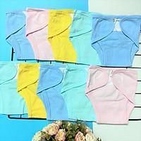 Combo 10 tả dán, tả vải sơ sinh Thái Hà Thịnh, 100% cotton thoáng mát, miếng dán mềm, size sơ sinh đến 7kg, hàng chính hãng