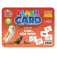Flash card Theo phương pháp giáo dục sớm của Glenn Doman – Thẻ học thông minh (song ngữ Anh Việt) - Chủ đề: Chim và Côn trùng