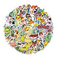 Sticker 50 miếng hình dán Pokemon D