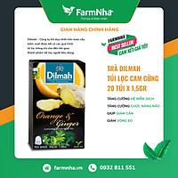 Trà túi lọc Dilmah Cam Gừng - Hàng chính hãng - Hỗ trợ hệ tiêu hóa, chữa trị bệnh cảm lạnh, trị bệnh hôi miệng [Farm Nhà Việt]