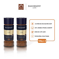 Combo 2 lọ Cà phê hòa tan - Davidoff Café  Fine Aroma - 100g