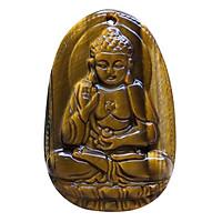 Mặt Dây Chuyền Đức Phật A Di Đà Mắt Hổ Vàng - Phật Bản Mệnh VIETGEMSTONES Cho Người Tuổi Tuất, Hợi