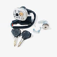 Ổ khoá chống trộm 6 cạnh cho Wave RS TQ có kèm khóa yên
