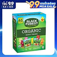 Kẹo dẻo trái cây không chất béo và gluten Black Forest Organic Gummy Bears 1.47Kg (Hộp 65 gói) - Nhập khẩu Mỹ