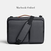 CẶP XÁCH LAPTOP Túi Chống Sốc Laptop MACBOOK Công Sở Vải Chống Thấm Nước Unisex Nam Nữ Chuẩn Leonardo DOLANTO