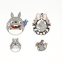 Combo 4 sticker ủi áo Totoro