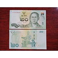 Tiền Thái Lan 20 Baht ngày xưa, chân dung vua cha - mới 100% - tặng kèm bao lì xì