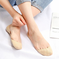 Langsha boat socks female lace socks shallow mouth summer invisible thin section silicone non-slip high heels socks 5 pairs invisible models 5 colors each 1