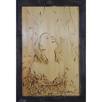 Tranh chạm bút lửa trên gỗ: Mơ