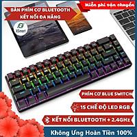Bàn Phím Cơ Bluetooth Không Dây Có Đèn LED Nhiều Chế Độ XSmart X650 GTR PRO Pin Sạc Kết Nối Điện Thoại Máy Tính Laptop PC - Hàng Chính Hãng