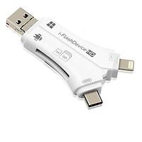 Đầu Đọc Thẻ Nhớ 4 Trong 1 iPhone/Micro USB/Type-C/USB Cho iPhone/iPad/Mac/PC/Android