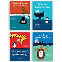 """Combo 4 Cuốn """"Bạn Thân Mến"""": Tớ Là Cá Voi +Tớ Là Hải Cẩu Lông Mao + Tớ Là Hươu Cao Cổ +  Tớ Là Rái Cá"""