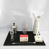 Combo Bình xịt kem hợp kim 500ml và bộ 6 dụng cụ pha chế cà phê, barista