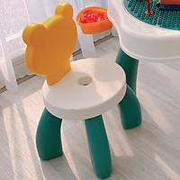Bộ bàn ghế đa năng xếp hình lego hình gấu cao cấp Umoo