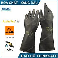 Găng tay chống hóa chất Alphatec 87-118 bao tay chống dầu, chống hóa chất - Black Heavyweight G17K