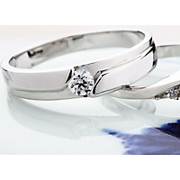 Love Ring Opening Romantic Color Couple Rings S925 Hollow Diamond