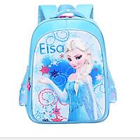 Balo trẻ em Elsa 3D xanh cấp 1