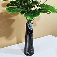 Lọ cắm hoa bằng đá tự nhiên - Mã BHD05 - Đá Đen Ý