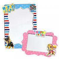 Bộ 2 khung hình giấy để bàn trang trí sinh nhật - chó paw patral