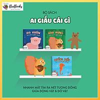 Sách Ehon Nhật bản- Bộ 3 cuốn Ai Giấu Cái Gì Đó dành cho bé từ 0-4 tuổi- Bộ sách phát triển khả năng quan sát cho trẻ