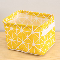 Simple Foldable Cloth Fabric Storage Basket Box Organizer for Home Desk Storage Decoration