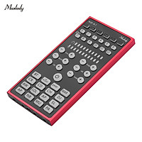 Muslady NC-A1 Mini Sound Mixer BT USB 3.5mm TRRS Port with Sound Effects for Live Streaming Online Karaoke Recording on
