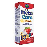 Thùng sữa nước Nutricare Metacare ECO (Vị DÂU) - ăn ngon cao khoẻ tinh anh cho trẻ từ 1 tuổi (180ml x 48 hộp)
